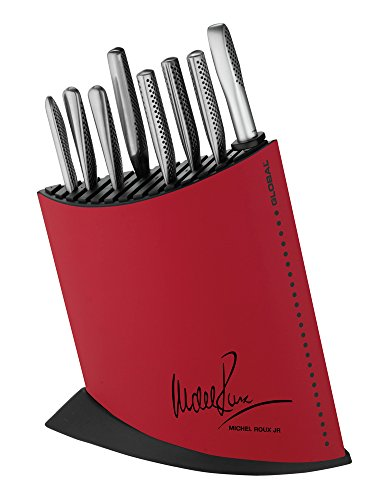 Global Knives by Michel Roux Jr 10 Piece Knife Block Set, Red