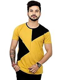 THE EG STORE Stylish Designer Round Neck Half Sleeve Cotton T Shirt for Mens