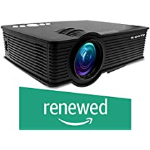 (Renewed) EGATE i9 LED HD Projector (Black) HD 1920 x 1080 - 120-inch Display