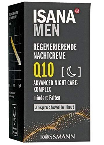 Regenerierende Nachtcreme Q10 für Männer - regenerierende Pflege zur Faltenvorbeugung und...