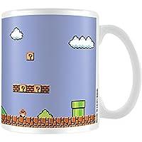 Super Mario Retro título taza de cerámica, multicolor