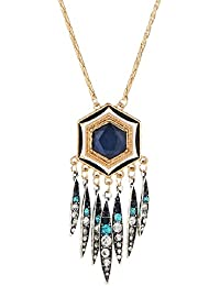 Glitz Trendy Party Wear Crystal Studded Pendant Necklace For Girls/Women