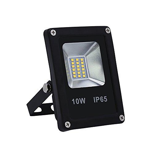 VINGO® 10W Blanc Projecteur LED Lumière led mural IP 65 étanche éclairage extérieur idéal pour jardin, cour, couloir, etc