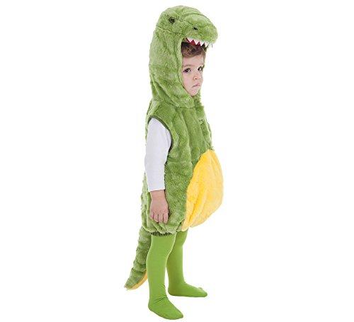 Creaciones Llopis Disfraz de Cocodrilo Verde y Amarillo para bebé