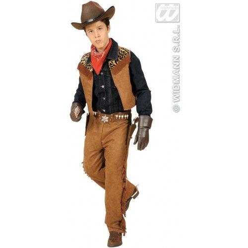 Cowboy Kostüm Männlich - Widmann-WDM42777 Kinderkostüm, braun blau, WDM42777