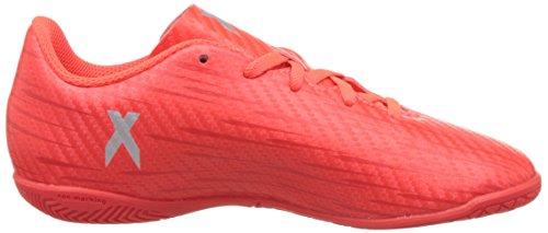 adidas X 16.4 In J, Chaussures de Football Garçon Rouge (Solar Red/Silver Metallic/Hi-Reset Red)