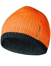 elysee Thinsulate®-Mütze zweifarbig - Strickbeanie (floureszierend orange/schwarz)