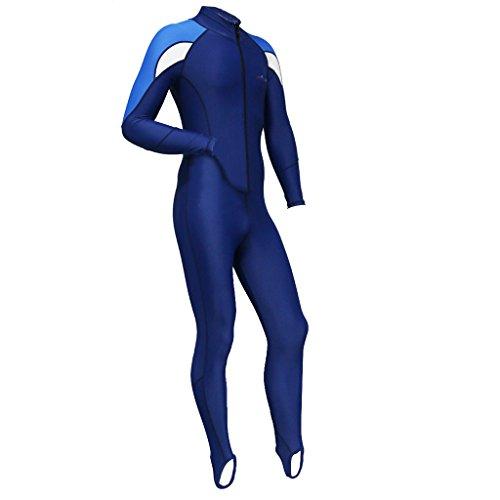 Gazechimp Ganzkörper Tauchanzug lang Reißverschluss (Damen / Herren Auswählbar), Super Stretch Bademode, Full Wetsuit - Weiß für Männer, M