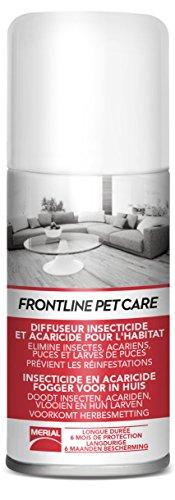 FRONTLINE PET CARE - Fogger/Diffuseur anti-puces anti-acariens pour la maison - jusqu'à 80m² - 150ml