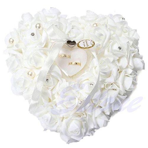 Hochzeitsring Kissen Spitze Kristall Rose Hochzeit Herz