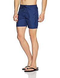 United Colors of Benetton Men's Shorts (BS01I_Small_Solid Navy Blue)-902