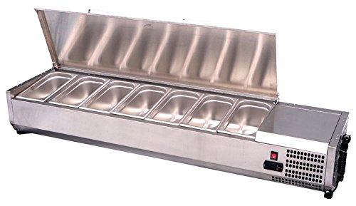 VRX 1200/330–Atosa 3-1Deckel aus Edelstahl Kühlschrank, 4x GN 1/4Pfannen