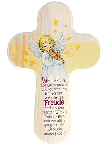 Kinderkreuz Engel mit Geige * Wir wünschen Dir *
