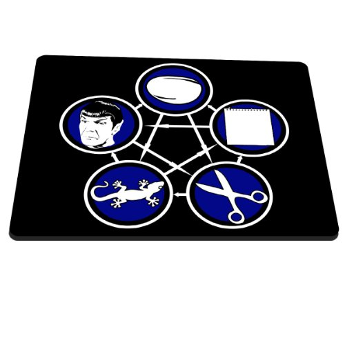 Preisvergleich Produktbild Stylotex Mauspad Stein Schere Papier Echse Spock Mousepad