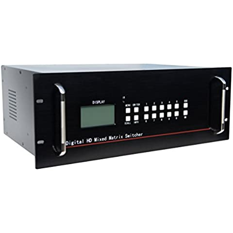 HDMI Matriz de conmutación 12ins 8salidas Sopport HDMI 1.4HDCP y DVI 1.0protocolo apoyo para 12bit profundidad de color y todos resoluions de HDTV incluyendo y PC resolución hasta 1920* 1080P