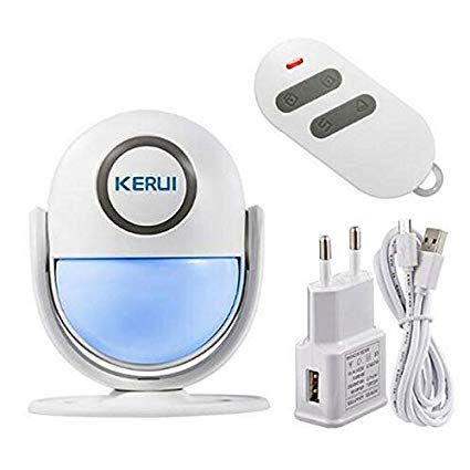 Kerui-Intelligent Home WiFi App Alarmanlage. PIR Bewegungsmelder mit Flash LED Licht, Alarmsystem mit Fernbedienung-125db Sirene-Sicherheit des Hauses Home Alarm Security System