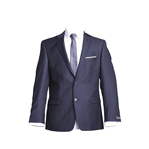 Preisvergleich Produktbild atelier torino Business Sakko Prestige mit Seitenschlitzen Dunkelblau Uni Normale Passform Classic Fit 100% Schurwolle, 330g 27