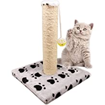 BPS (R) Juguete Rascador Con Campana para Gatos, Amarillo, Morado, Rosa, Gris y Verde, Scraper para Gato, Animales Domésticos 28 x 28 x 32cm BPS-3158