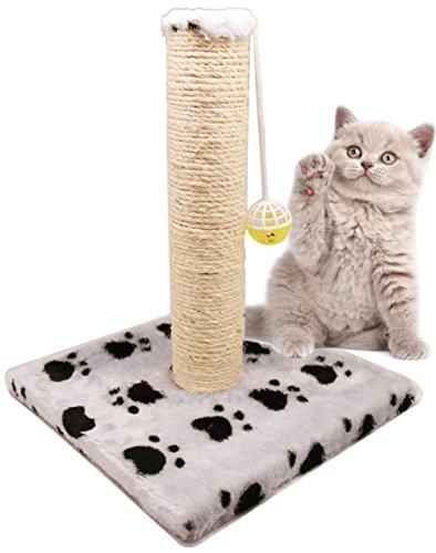 BPS (R) Juguete Rascador Con Campana para Gatos, Amarillo, Morado, Rosa, Gris y Verde, Scraper para Gato, Animales Domésticos 28 x 28 x 32cm BPS-3158-FBA