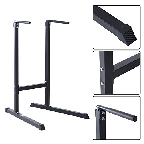 Homcom Dip Station Stand Pull Push Up Bar Tower Fitness Workout Gym