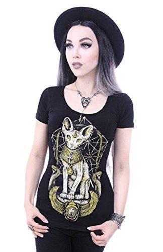 ten T-shirt - Schwarz (L - 40) (Halloween Okkulte)