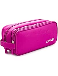 EasyBuy India M, Pink : Multi Function Travel Case Storage Bag For Small Electronics Accessories Phone Charger...