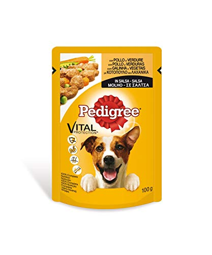 Bolsita para perros adultos de pollo y verduras 100g | [Pack de...