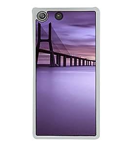 Fuson Designer Back Case Cover for Sony Xperia M5 Dual :: Sony Xperia M5 E5633 E5643 E5663 (connection lights flyover sea sealink Mumbai)