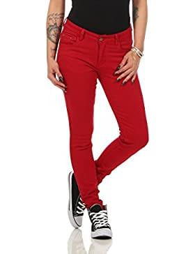 10489 Fashion4Young Damen Skinny Slimline Hose Damenhose Stretch Übergrössen 36-50