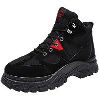 LILICAT☃ Botas Retro Retro en el Desierto, además de Zapatos de Terciopelo abrigados Invierno Hombre Retro Calzado cálido Calzado Resistente al Desgaste Botas de Desierto Gruesas