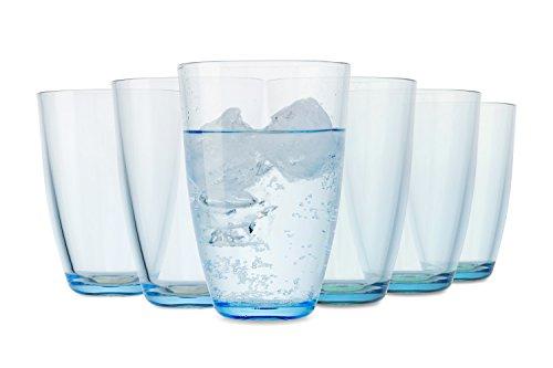 Tivoli Farbige Gläser Rio / 6-teiliges Set / 350 ml / Wassergläser / In Blau / Spülmaschinenfest (Wasser Sparen, Bier Trinken)