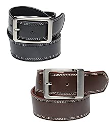Walletsnbags Casual Texas Mens Belt Combo- BlackBrown (BlackBrown, 32)