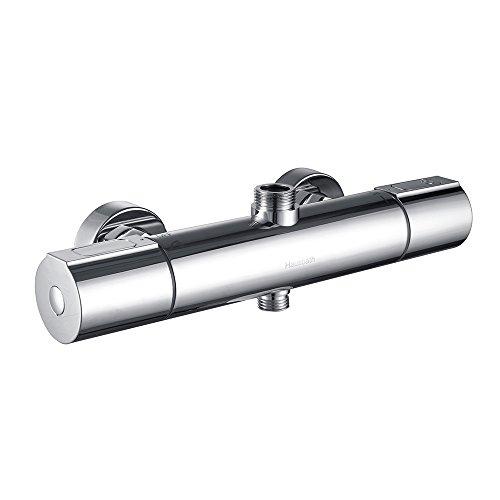 Hausbath Duscharmatur Duschthermostat Brausethermostat Mischbatterie Thermostat Dusche mit 38 °C Sicherheitstaste Wassertemperatur 20 °C - 50 °C