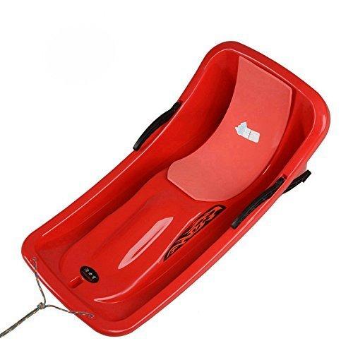 califun Schnee Schlitten Boot Toboggan Schlitten Glider mit Bremsen Downhill Sprinter Winter Toboggan, 91,4cm L x 45,7cm W x 35,6cm H, rot