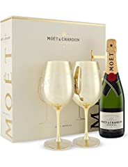 Idea Regalo - Set regalo natalizio Moet & Chandon Golden Calice - Splendida idea regalo per Natale, compleanno, matrimonio, anniversario e regali aziendali