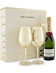 Idea Regalo - Set regalo natalizio Moet & Chandon Golden Calice - Splendida idea regalo per Natale, compleanno, matrimonio, anniversario e regali aziendali