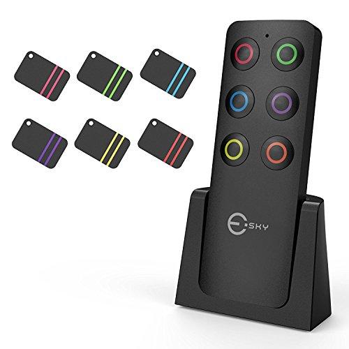 Esky Finder, Wireless Key Finder mit 6Empfängern RF Artikel Locator, Artikel Tracker Unterstützung Fernbedienung, PET, Portemonnaie Tracker, gute Idee für Ihre verlorenen Artikel finden
