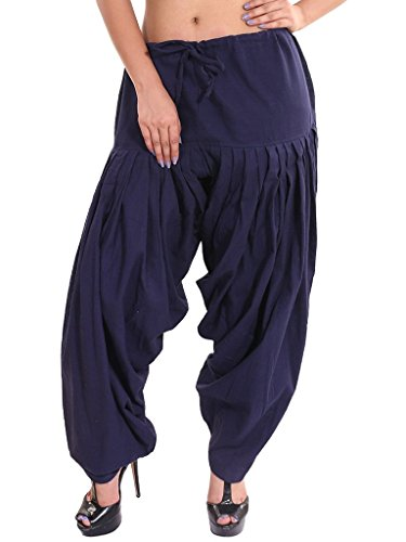 Anaro Navy Blue Cotton Patiala Salwar