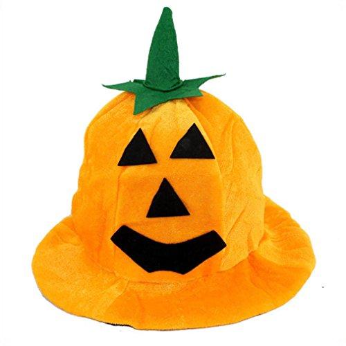 Kostüm Halloween Hut Sun (Tianya Cosplay Halloween Kürbis Hat Kürbis Motive Orange Emoji-Funny Hüte,)