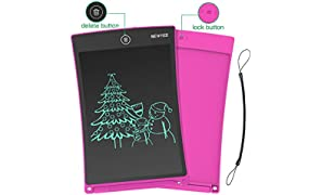 NEWYES 8,5 Pulgadas Tableta Gráfica, Tablets de Escritura LCD, Portátil Tableta de Dibujo Adecuada para el hogar, Escuela, Oficina, Cuaderno de Notas, 1 año de garantía (Rosa)