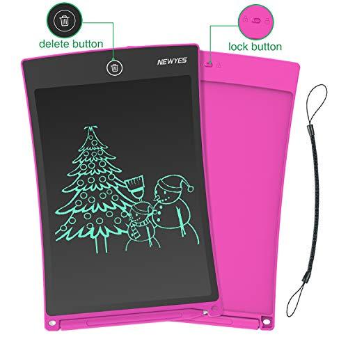 NEWYES NYWT850 Tavoletta Grafica LCD Scrittura, 8,5 Pollici di Lunghezza - Vari Colori(Rosa)