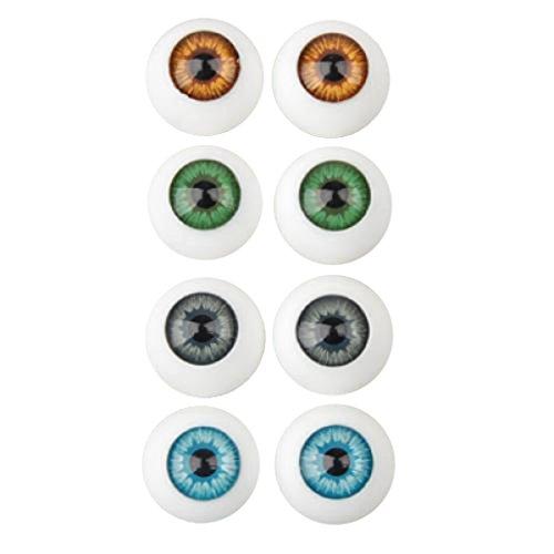 Sharplace 8 Iris Oval Hohle Kunststoff Augen Augäpfel Fuer Puppe dollfie