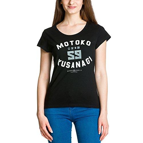 Ghost In The Shell Women39;s Motoko Kusanagi Black T-shirt