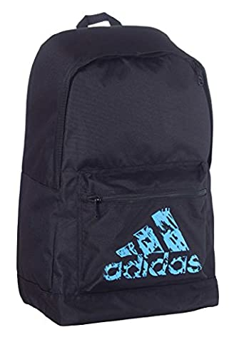adidas Sports Bag Rucksack 30 x 45 x 17 cm SCHWARZ NEON BLAU SOLAR FLASH Original Backpack Schulrucksack Tasche Sporttasche