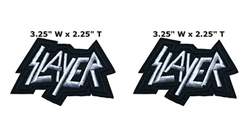 Outlander Outdoor Brand Applikation Classic Rock Slayer Band Musik Cosplay Badge bestickt Aufnäher Aufbügler Patch 2er Pack Geschenkset