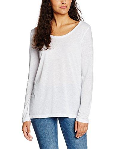 ICHI Damen Langarmshirt Jasmin LS Weiß (white Solid 10100)