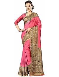 Miraan Printed Art Silk Women's Saree With Blouse Piece(01)