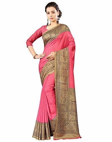 Miraan Printed Art Silk Saree for women with blouse (01)