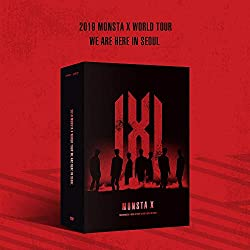Starship Entertainment Monsta X 2019 Monsta X World Tour We Are Here IN Seoul DVD 3Discs+120p Photobook+8HOLOGRAM PHOTOCARD Set+Pop-UP Card+Folded Poster+Double Side Extra Photocards Set