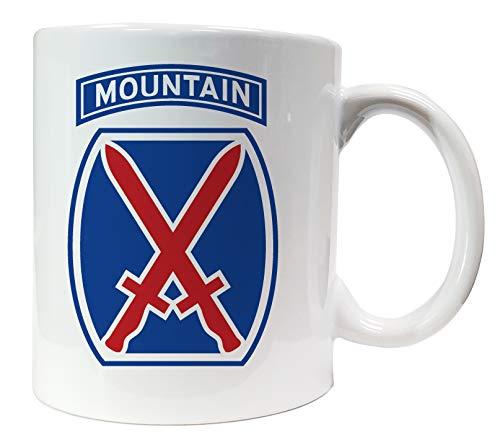 Dope Waffles Keramiktasse mit Aufschrift 10th Mountain Division SSI US Army Unit Insignia